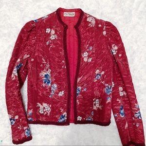 Vintage MALBE 1960's Silky Floral Jacket 6